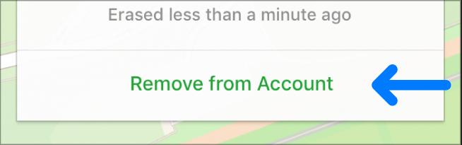 le bouton Supprimer du compte.