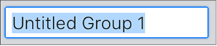 Champ de texte Nouveau groupe.