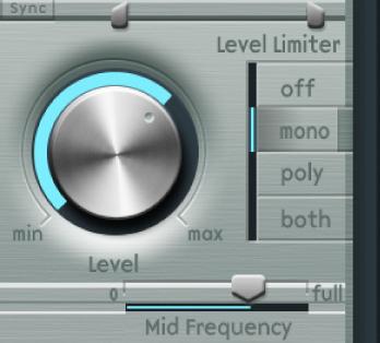 Figure. Level Limiter parameters.