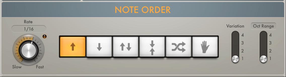 Figure. Arpeggiator Note Order parameters.