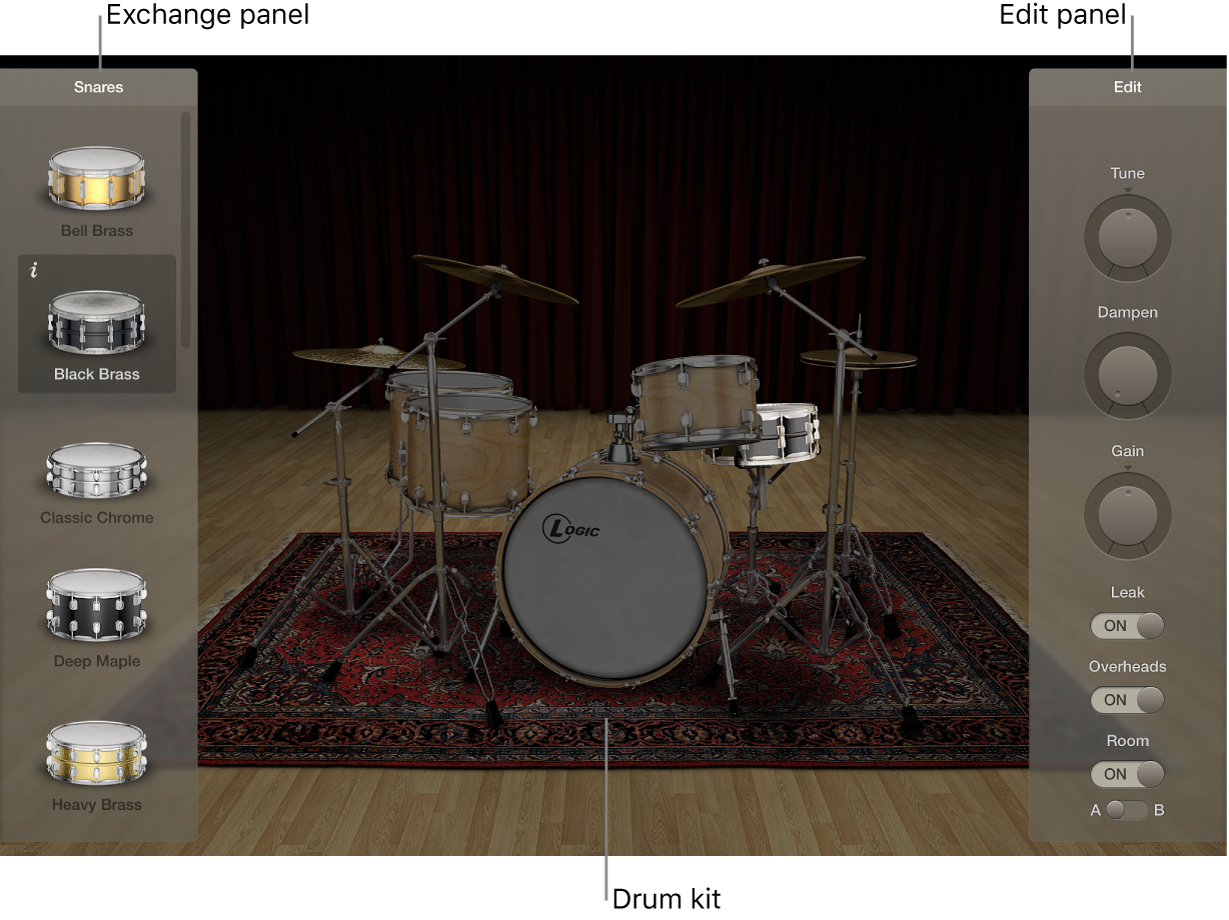 Figure. Drum Kit Designer interface.