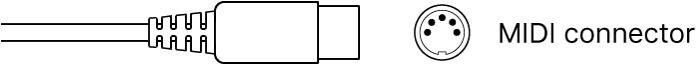 Figure. Illustration of MIDI connector.