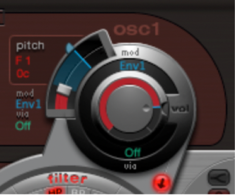 Figure. Pitch modulation adjustment.