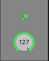 Figure. Channel strip showing alias arrow icon.