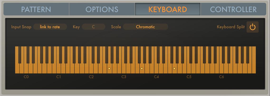 Figure. Arpeggiator Keyboard parameters.