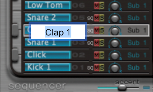 Figure. Text entry field showing Claps.