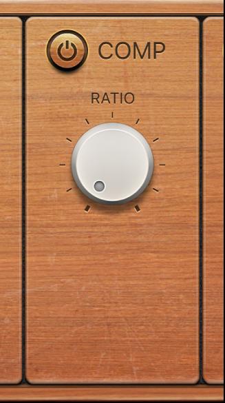Figure. Fuzz-Wah Compressor controls.