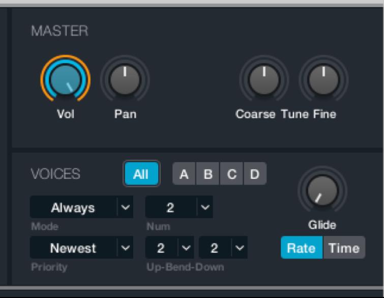 Figure. Master voice parameters.