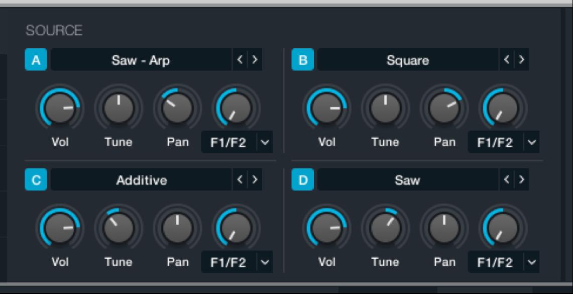 Figure. Source master controls.