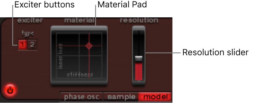 Figure. Model mode parameters.