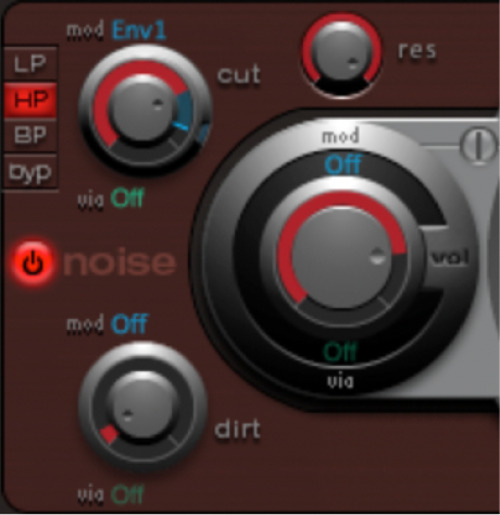 Figure. Hi-hat oscillator settings.