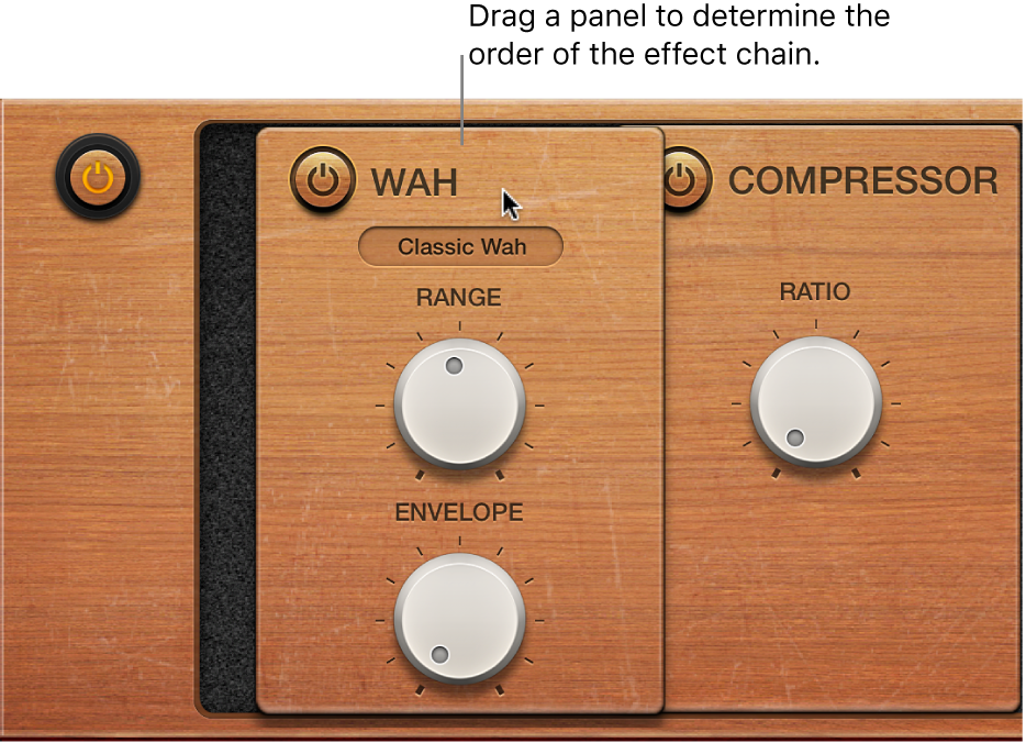 Figure. Vintage Clav effects being repositioned.