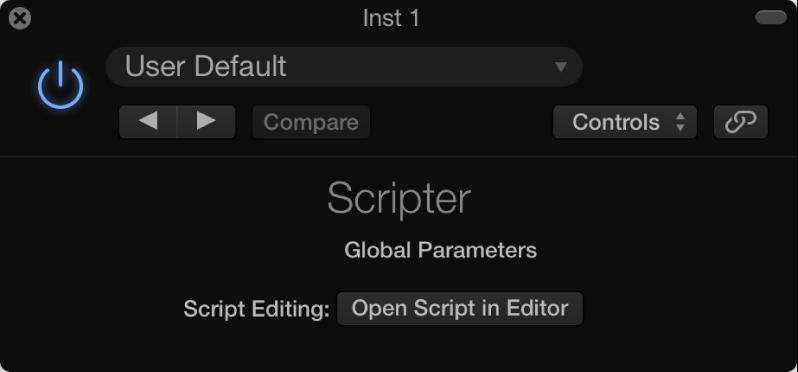 Figure. Scripter window.