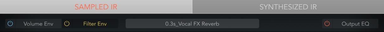 Figure. Sampled IR Display mode bar.