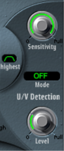 Figure. U/V Detection parameters.