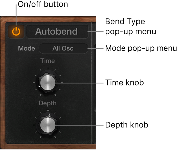 Figure. Retro Synth Glide and Autobend parameters.