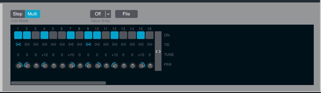Figure. Arpeggiator multi mode controls.