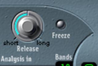 Figure. EVOC20 Polysynth Freeze button.