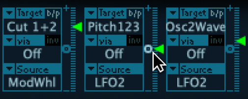 Figure. Intensity slider, being set to zero.