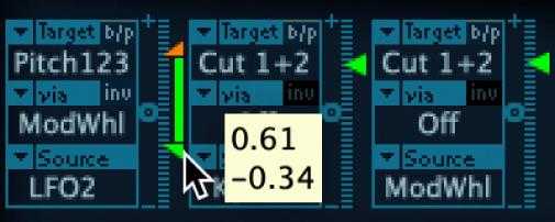 Figure. intensity slider, being set to the minimum amount.
