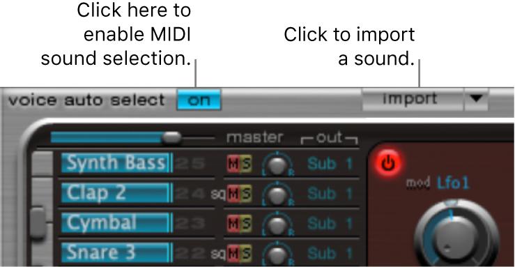 Figure. Import button.
