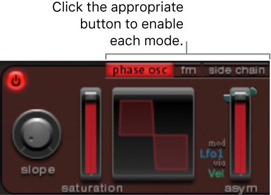 Figure. Oscillator1 mode buttons.