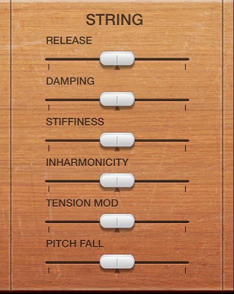Figure. Vintage Clav String parameters.