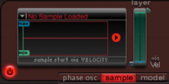 Figure. Oscillator2 mode buttons.