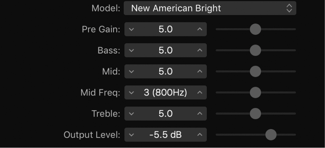 Figure. Bass Amp window.