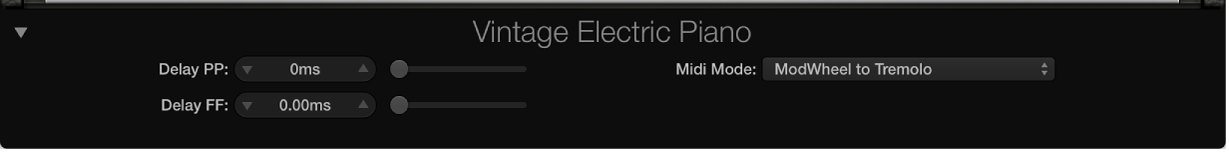 Figure. Vintage Electric Piano Extended parameters.