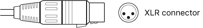 Figure. Illustration of XLR connector.