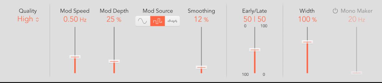 Figure. ChromaVerb details window control parameters.