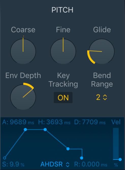 Figure. Quick Sampler Pitch parameters.