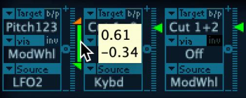 Figure. Via range, shown between the maximum and minimum Intensity slider positions.