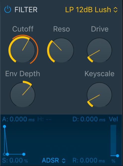 Figure. Quick Sampler filter parameters.