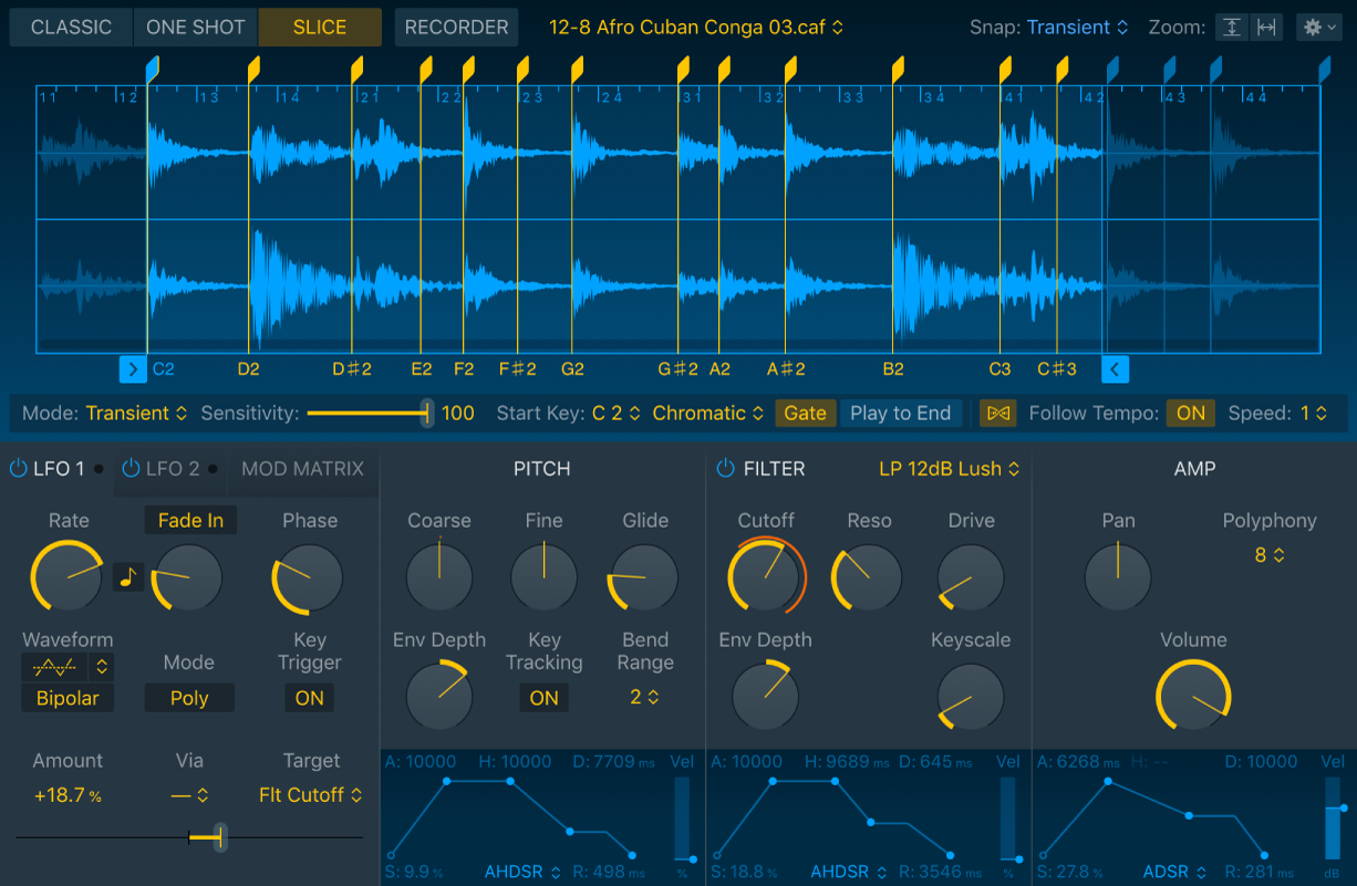 Figure. Full Quick Sampler interface, showing all parameters.