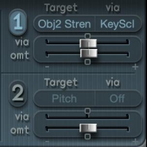 Figure. LFO modulation sliders.