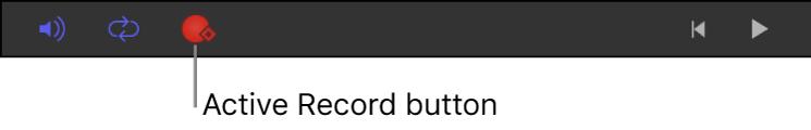 Aufnahmetaste in der Symbolleiste für das Zeitverhalten