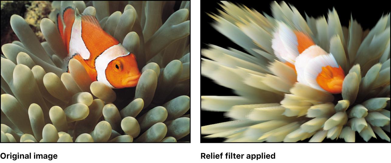 """Canvas mit dem Effekt des Filters """"Relief"""""""