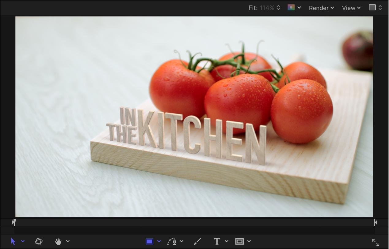 Canvas mit einem Beispiel für 3D-Text