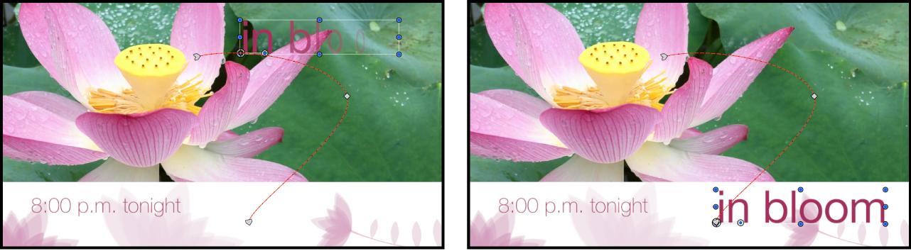 Beispiel für Objekte, die ihre Position im Zeitverlauf ändern.