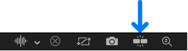 """Taste """"Einrasten"""" im Keyframe-Editor"""