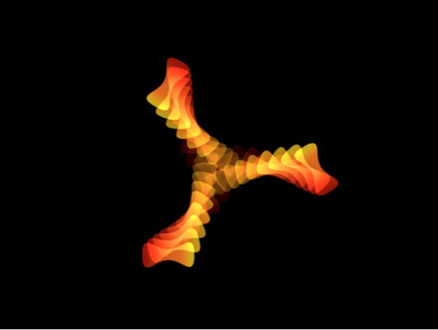Canvas mit Replikator, bei dem die Deckkraft über die Dauer des Verhaltens animiert wird