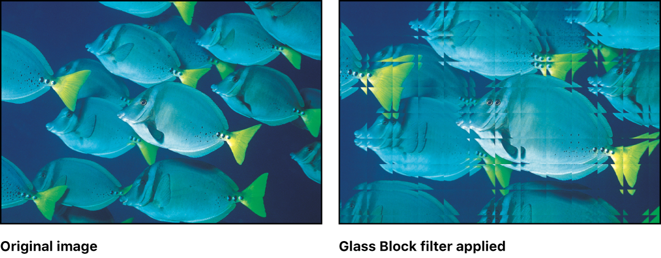 "Canvas mit dem Effekt des Filters ""Blockglas"""
