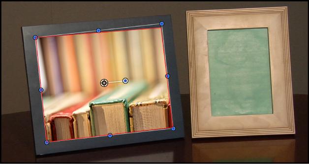 Canvas mit einem verfolgten Objekt mit angewendeter Maske