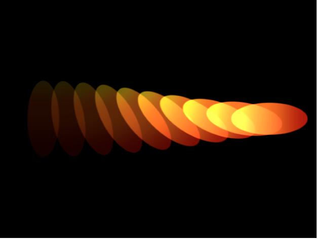 Canvas mit einem Replikator mit unterschiedlichen Einstellungen für die Deckkraft am Anfang und am Ende des Farbverlaufs