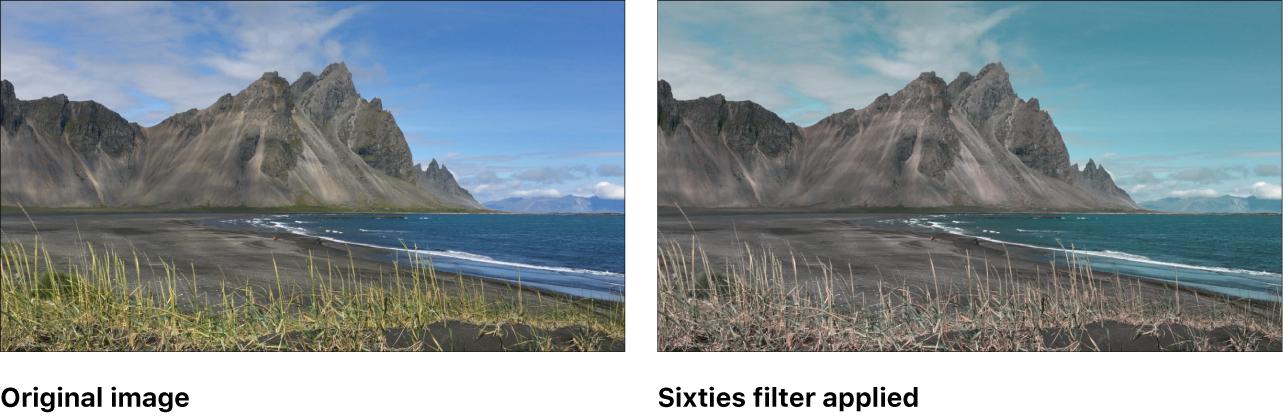 "Canvas mit dem Effekt des Filters ""Sechziger"""