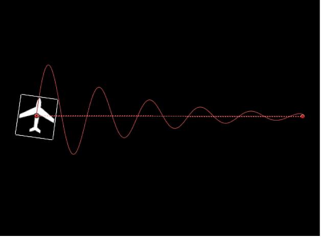 """Canvas, der den Effekt des Parameters """"Dämpfung"""" zeigt"""