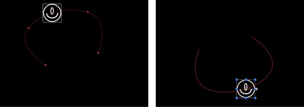 """Canvas, der den Effekt des Verhaltens """"Negieren"""" zeigt"""