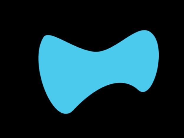 Canvas showing bowtie shape